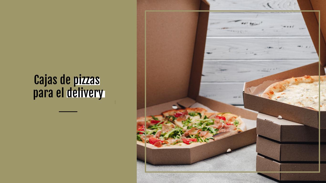 Packaging para alimentos. Cajas para pizzas